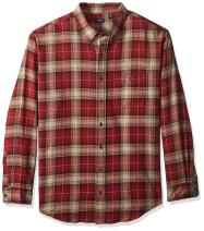 Arrow 1851 Men's Big and Tall Saranac Flannels Long Sleeve Button Down Shirt