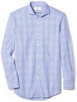 Amazon Brand - BUTTONED DOWN Men's Classic Fit Cutaway-Collar Supima Cotton Dress Casual Shirt