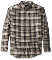 Arrow 1851 Men's Big and Tall Saranac Flannel Long Sleeve Button Down Shirt
