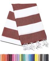 Barcelonetta | Turkish Towel | 40x69in | Beach & Bath Peshtemal | Natural, Eco-Friendly, 100% Cotton, Super Soft, Quick-Dry | Washing Machine, Dryer and Iron Safe | Made in Turkey (Burgundy)
