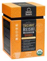 Organic Reishi Mushroom Spores by Mehdi Reishi – 30 Servings, 1,000mg-100% Pure, Authentic, Organic Spores-Ganoderma Lucidum, Lingzhi - High Potency Triterpenes
