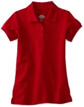 Dickies Girls' Short Sleeve Pique Polo Shirt