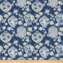 Jaclyn Smith 03710 Navy Linen Fabric by The Yard