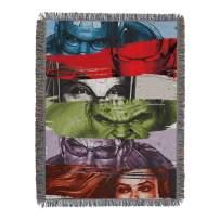 "Marvel Comics, ""Heroic Strokes"" Woven Tapestry Throw Blanket, 48"" x 60"", Multi Color"
