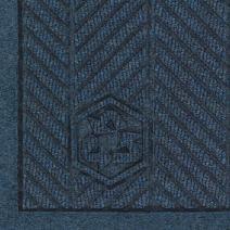 "M+A Matting 2241 Waterhog Fashion ECO Elite PET Polyester Entrance Indoor Floor Mat, SBR Rubber Backing, 5' Length x 3' Width, 3/8"" Thick, Indigo"