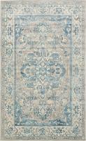 Unique Loom Paris Collection Pastel Tones Traditional Distressed Dark Gray Area Rug (5' 0 x 8' 0)