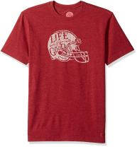 Life is Good Men's Crusher Tee Football Helmet L Htcrrd T-Shirt,