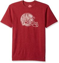 Life is Good Men's Crusher Tee Football Helmet L Htcrrd T-Shirt,