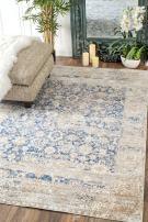 "nuLOOM Kate Timeworn Floral Area Rug, 6' 7"" x 9', Blue"