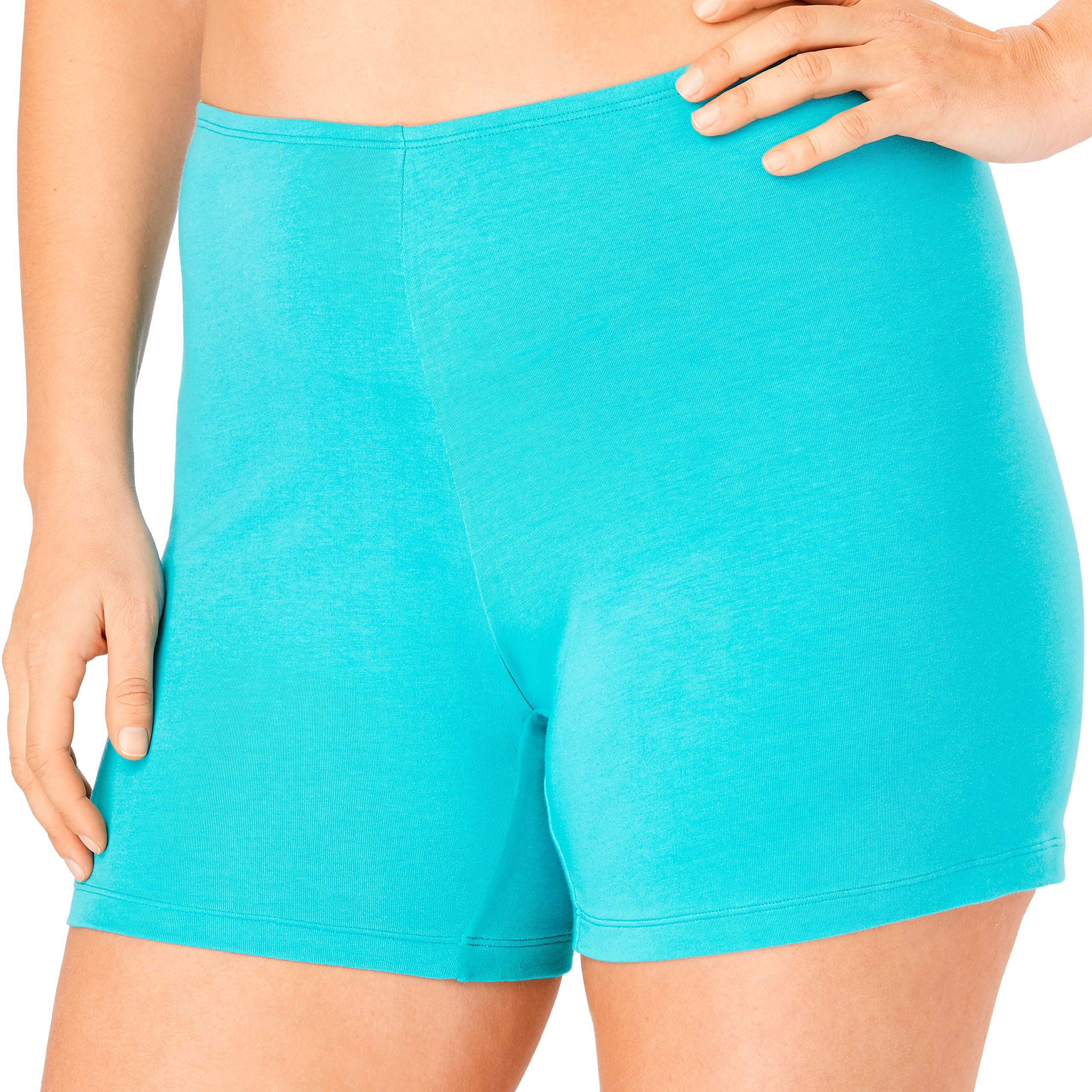 Comfort Choice Women's Plus Size 2-Pack Stretch Cotton Boxer Boyshort