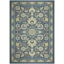 Maples Rugs Florence Area Rugs for Living Room & Bedroom [Made in USA], 5 x 7, Blue