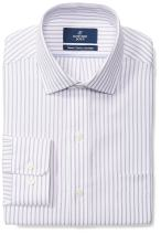 Amazon Brand - Buttoned Down Men's Classic-Fit Stripe Dress Shirt, Supima Cotton Non-Iron