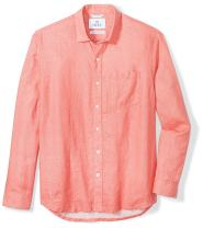 Amazon Brand - 28 Palms Men's Relaxed-Fit Long-Sleeve 100% Linen Shirt