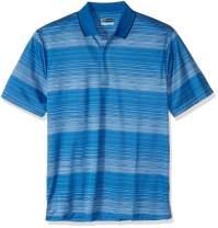 PGA TOUR Men's Big and Tall Short Sleeve Roadmap Stripe Jacquard Polo