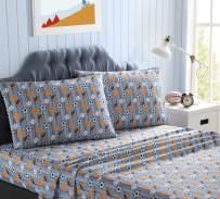 Kute Kids Super Soft Sheet Set - Athletes Stripe - Brushed Microfiber for Extra Comfort (Twin)