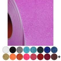 "Glitter Neon Rainbow Purple Heat Transfer Vinyl Film HTV | Two (2) 15""x 20"" sheets |Solids, Neon, Glitter, Flock, Holographic, Metallic, Embossed | Over 130 Colors | For Silhouette cameo | Threadart"