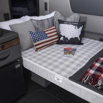 """MOBILE INNERSPACE 4"""" Truck Firm Support, 80"""" x 38"""" Mattress, 80""""L x 38""""W, Gray Check w/White Trim"""