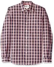Amazon Brand - Goodthreads Men's Slim-Fit Long-Sleeve Plaid Poplin Shirt with Button-Down Collar