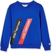 Kid Nation Kids' Brushed Fleece Oversized Longer Length Sweatshirt for Boys Or Girls