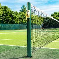 Vermont Round Tennis Posts [Optional Sockets] | ITF Regulation Posts – Brass Winder Included