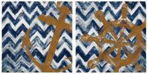 Thirstystone Occasions Coaster, Nautical Ikat-II, Multicolor