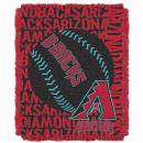 """Officially Licensed MLB Double Play Jacquard Throw Blanket, Soft & Cozy, Washable, Throws & Bedding, 46"""" x 60"""""""