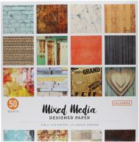 "ColorBok 73470B Designer Paper Pad Mixed Media, 12"" x 12"",Multicolor"
