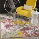 """Safavieh Water Color Collection WTC696E Light Green and Rose Area Rug, 6'7"""" x 9'"""