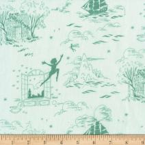 Michael Miller 0587222 Sarah Jane Peter Pan Second Star to The Right Sea Fabric by The Yard
