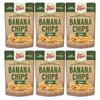 Sun Tropics Island Saba Banana Chips, Original, 3.5 oz, 6 Count, Vegan, Gluten Free, Non GMO, Made with Coconut Oil, Crispy Fruit Snacks