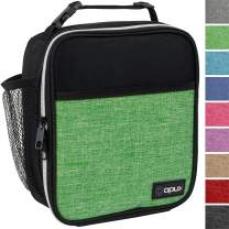 OPUX Premium Insulated Lunch Box   Soft Leakproof School Lunch Bag for Kids, Boys, Girls   Durable Reusable Work Lunch Pail Cooler for Adult Men, Women, Office Fits 6 Cans (Heather Green)