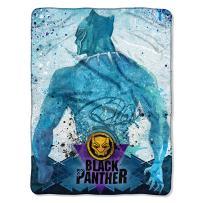 "Marvel's Black Panther, ""Icon Splatter"" Micro Raschel Throw Blanket, 46"" x 60"", Multi Color"