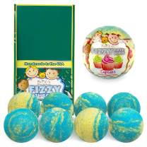 Bela Bath & Beauty, Bela Kids Fizzy Bath Bombs, Cupcake, With Moisturizing Shea Butter and Coconut Oil, 4.5 oz Each - Set of 8