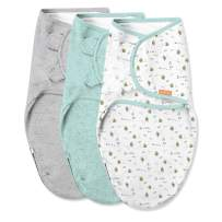 SwaddleMe Easy Change Swaddle – Size Small/Medium, 0-3 Months, 3-Pack (Little Bees)