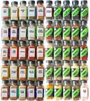 FreshJax Premium Gourmet Organic Kosher Seasonings and Spices, Essentials Collection, Organic Variety Spice Jar Gift Set (50 pack)