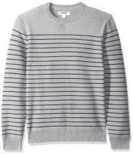 Amazon Brand - Goodthreads Men's Soft Cotton Multi-Color Striped Crewneck Sweater