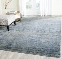 Safavieh Mystique Collection MYS920F Vintage Watercolor Overdyed Blue and Multi Distressed Area Rug (8' x 10')