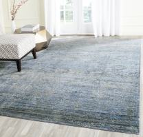 Safavieh Mystique Collection MYS920F Vintage Watercolor Overdyed Blue and Multi Distressed Area Rug (5' x 8')