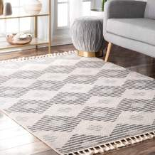 nuLOOM Lynx Striped Outdoor Rug, 10' x 13', Beige