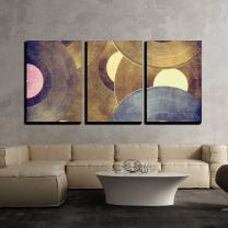 """wall26-3 Piece Canvas Wall Art - Vinyl Records Music Background - Modern Home Decor Stretched and Framed Ready to Hang - 16""""x24""""x3 Panels"""