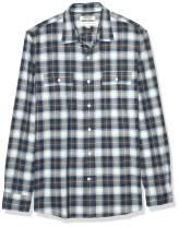 Amazon Brand - Goodthreads Men's Standard-Fit Long-Sleeve Plaid Herringbone Shirt
