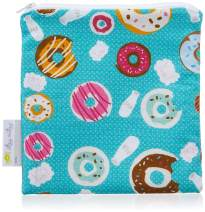 "Itzy Ritzy Reusable Snack Bag – 7"" x 7"" BPA-Free Snack Bag is Food Safe, Washable and Ideal for Storing Snacks, Pacifiers, Electronics and Makeup in a Diaper Bag, Purse or Travel Bag, Donut Shop"