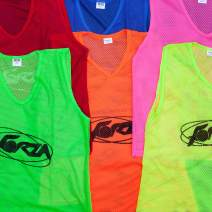 FORZA Soccer Training Pinnies/Scrimmage Vests/Sports Bibs   Packs of 5, 10 & 15   Sizes Ranging from Kids to XL