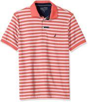 Nautica Men's Classic Short Sleeve Stripe Polo Shirt