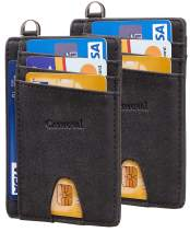 Casmonal Slim Minimalist Front Pocket Wallets RFID Blocking Credit Card Holder for Men & Women