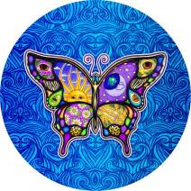 TIRE COVER CENTRAL Night & Day Butterfly on Blue (Select tire Size/Back up Camera Option in MENU) Sizes for Any Make modelSpare Tire Cover for 255/75R17 Dan Morris(c)