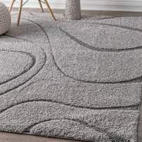 "nuLOOM Carolyn Cozy Soft & Plush Shag Rug, 5' 3"" x 7' 6"", Dark Grey"