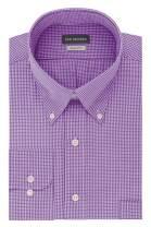 Van Heusen Men's Regular Fit Gingham Button Down Collar Dress Shirt