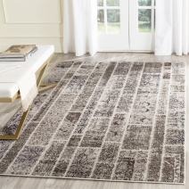 Safavieh Monaco Collection MNC216P Modern Geometric Patchwork Beige and Multi Distressed Area Rug (8' x 11')