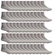 Yacht & Smith Mens & Womens Ankle Wholesale Bulk Pack Athletic Sports Socks, by SOCKS'NBULK